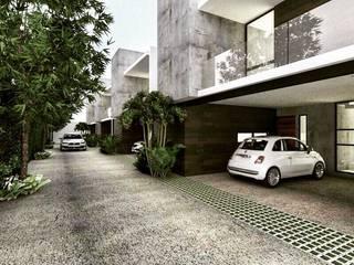 Townhouses:  de estilo  por Heftye Arquitectura