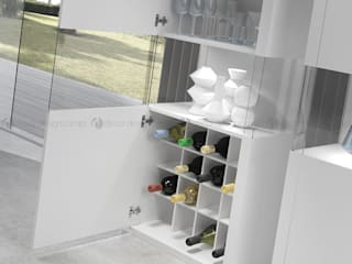 Decordesign Interiores Living roomCupboards & sideboards White
