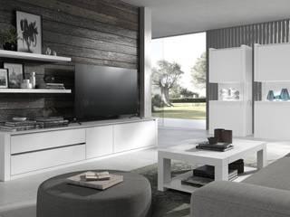 Decordesign Interiores SalasMuebles de televisión y dispositivos electrónicos Blanco
