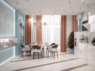 Minimalistische Küchen von Студия интерьерного дизайна happy.design Minimalistisch