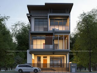 บ้านพักอาศัย3ชั้น ถนนเจริญนคร By FEWDAVID3D โดย fewdavid3d-design