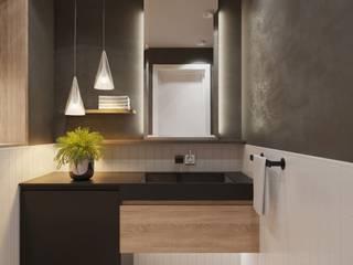 Апартаменты в клубном доме Трилогия: Ванные комнаты в . Автор – Студия авторского дизайна ASHE Home