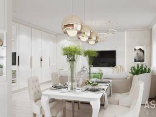 Salas de estilo ecléctico de Студия авторского дизайна ASHE Home Ecléctico