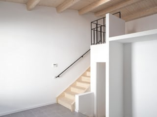 AlbertBrito Arquitectura Tangga Kayu Buatan White