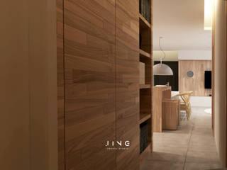 景寓空間設計 Minimalist corridor, hallway & stairs