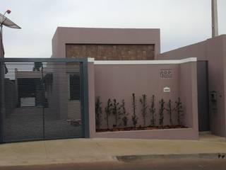 Residência - Centro, Sarutaiá - SP Casas modernas por Cristhiano Aguiar - Arquitetura Moderno
