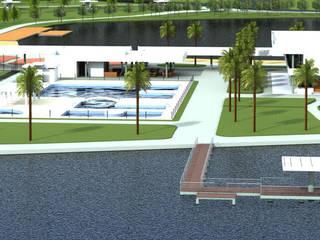 """""""Complexo de Lazer para Sarutaiá – SP Piscinas modernas por Cristhiano Aguiar - Arquitetura Moderno"""