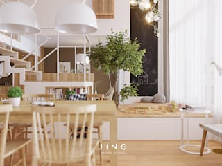 Dining room by 景寓空間設計
