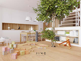 Modern nursery/kids room by 景寓空間設計 Modern
