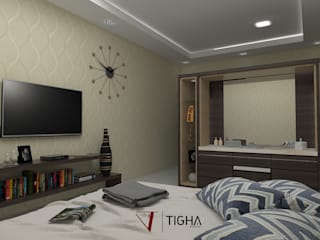 Design Interior Mrs.S Master Bedroom :   by Tigha Atelier