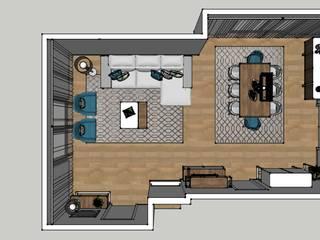 Sala de estar e jantar: Salas de estar  por Atelier Paula Pereira