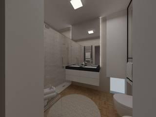 casa de banho pratica e funcional: Casas de banho  por Atelier Paula Pereira