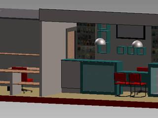 Local comercial Estudios y oficinas modernos de Ponce Interiores Moderno