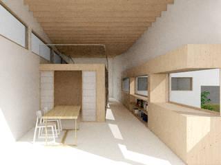 판교 중목구조 주택: 건축사사무소 모뉴멘타의  거실,모던