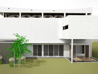 건축사사무소 모뉴멘타 Casas modernas Madera maciza Blanco