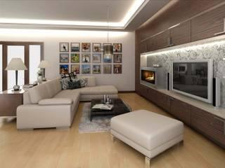 ANTE MİMARLIK  – Baz Villa:  tarz Oturma Odası
