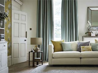 Harlequin Fabrics & wall coverings Modern living room by Blakely Interiors Modern