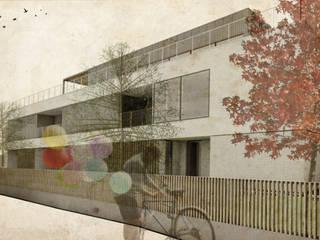 IMAGEM_Fachada Principal: Casas unifamilares  por OW ARQUITECTOS lda   simplicity works