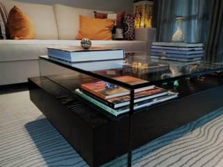现代客厅設計點子、靈感 & 圖片 根據 silvia crevelaro arquitetura 現代風