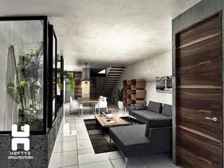 Sala - comedor: Salas de estilo  por Heftye Arquitectura