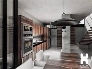 Proyecto de casa habitación: Comedores de estilo  por Heftye Arquitectura