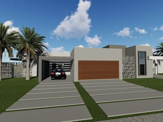 Cláudia Legonde Single family home Concrete Beige