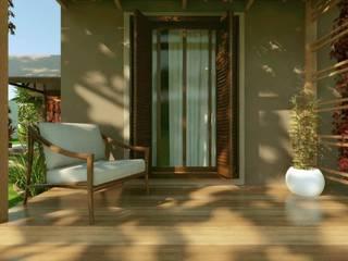 Maisons de campagne de style  par Cíntia Schirmer | arquiteta e urbanista, Rustique Briques