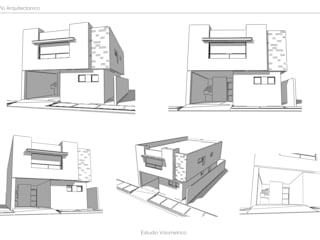 Proyecto VFC-01 Casas modernas de Visualetts Design Studio Moderno