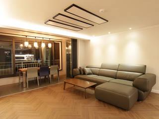 DESIGNCOLORS Modern living room Brown