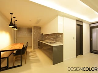 DESIGNCOLORS Modern kitchen Brown