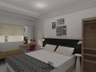Minimalis Apartment Mrs. LK Kamar Tidur Minimalis Oleh Internodec Minimalis