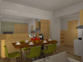 Minimalis Apartment Mrs. LK Ruang Makan Minimalis Oleh Internodec Minimalis