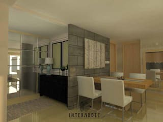 Modern dining room by Internodec Modern