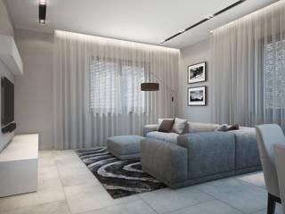 Проект частного дома Гостиная в стиле минимализм от Оксана Котова Минимализм