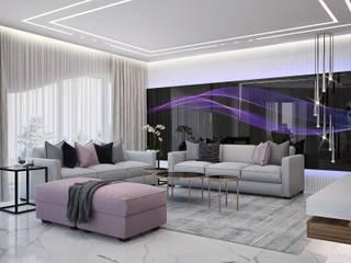 Проект частного дома Гостиная в стиле модерн от Оксана Котова Модерн