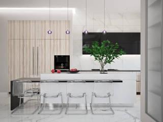 Проект частного дома Кухня в стиле модерн от Оксана Котова Модерн