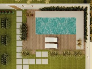 Albercas de jardín de estilo  por Cíntia Schirmer | Estúdio de Arquitetura e Urbanismo