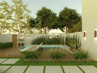 Hồ bơi trong vườn by Cíntia Schirmer | Estúdio de Arquitetura e Urbanismo