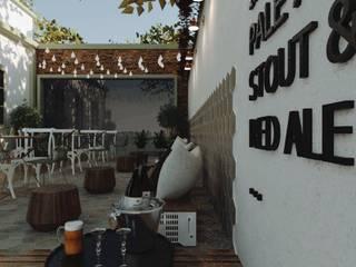 Bares y discotecas de estilo  por Cíntia Schirmer | Estúdio de Arquitetura e Urbanismo