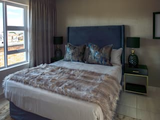 Johannesburg Show House - Low Budget Interior:  Bedroom by Spegash Interiors, Modern