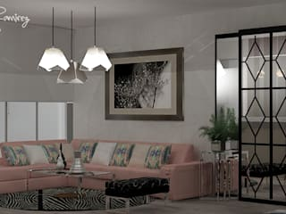 Estudio R&R Modern living room Pink