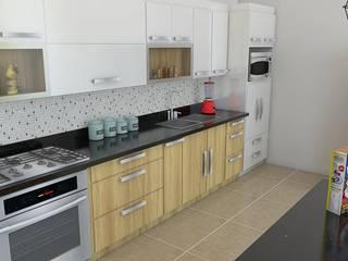 Modelado 3d -para nuestros proyectos: Cocinas integrales de estilo  por Arquitectura e Ingenieria GM S.A.S, Moderno