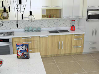 Proyecto de cocina: Cocinas integrales de estilo  por Arquitectura e Ingenieria GM S.A.S
