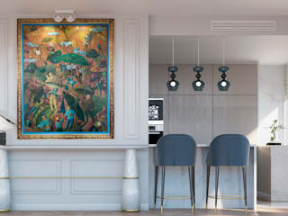 Pequeno, grande apartamento Estoril: Salas de estar  por Inêz Fino Interiors, LDA,Eclético