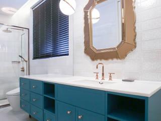 다빈710 現代浴室設計點子、靈感&圖片 Turquoise