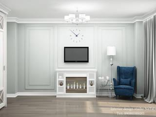 Дизайн интерьера в ЖК Ньютон в классическом стиле: Спальни в . Автор – Interior design studio NaTaLi ( Студия дизайна интерьера Натали)