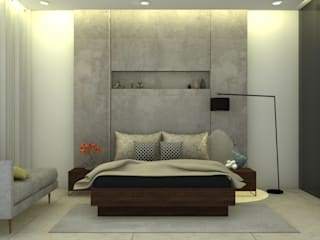 3BHK,Urban Space,Kondwa:   by Edge spot interior