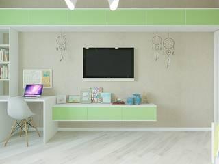 Дизайн квартиры в  ЖК Вишневый сад: Спальни для мальчиков в . Автор – YZ-design