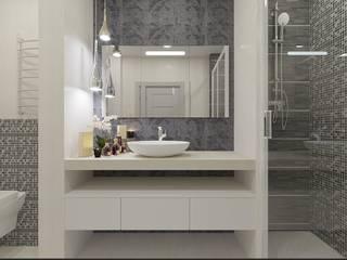 Дизайн квартиры в  ЖК Вишневый сад: Ванные комнаты в . Автор – YZ-design