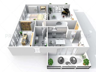 3D floor plan isometric view:   by Proglobalbusinesssolutions